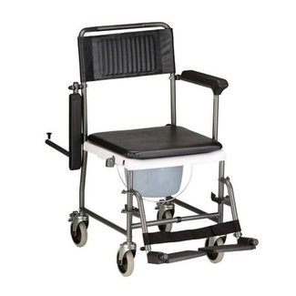 Nova Nova Rolling Shower Chair & Commode with Drop Arms