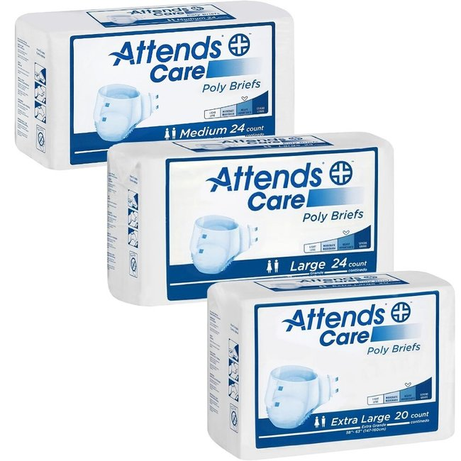 Attends Attends Poly Briefs - Moderate Absorbency