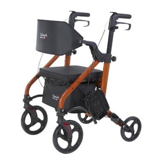 LifeStyle Mobility Aids Translator Deluxe Rollator / Transport Chair