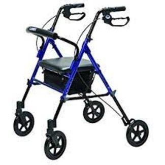 Lumex Lumex Set-N-Go Height Adjustable 4 Wheel Walker