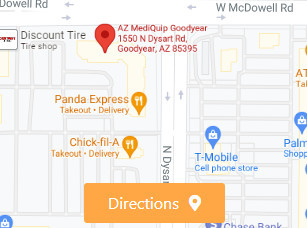 AZ MediQuip Goodyear Store Directions