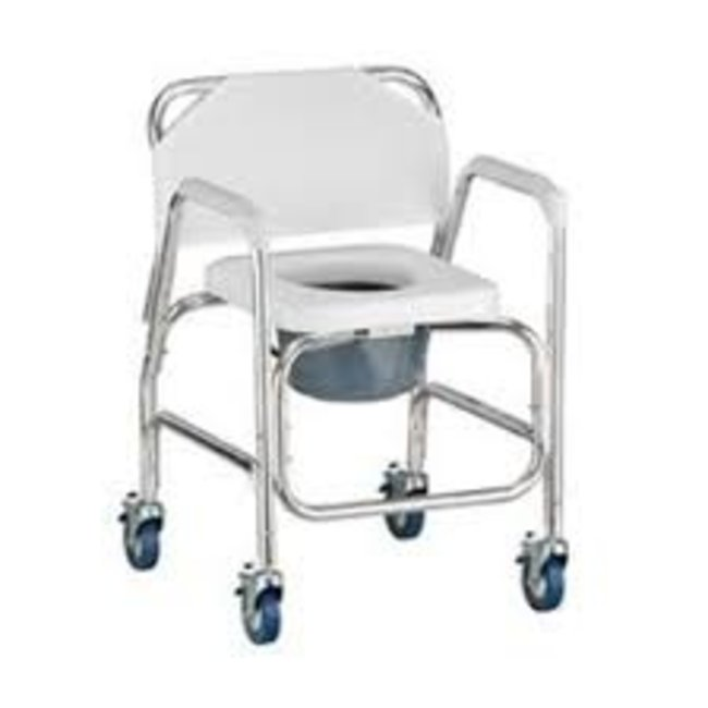 Nova Nova Rolling Commode/Shower Chair with Padded Seat