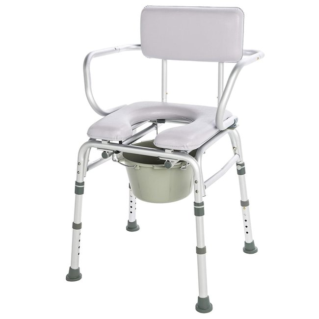 Lumex Lumex 7947KD Padded Commode Shower Chair with drop arms