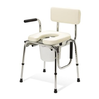Medline Medline Padded Seat Commode with Drop Arms