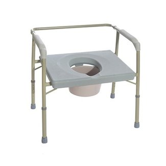 Essential Medical Essential Heavy Duty Wide Commode 500 lb Capacity