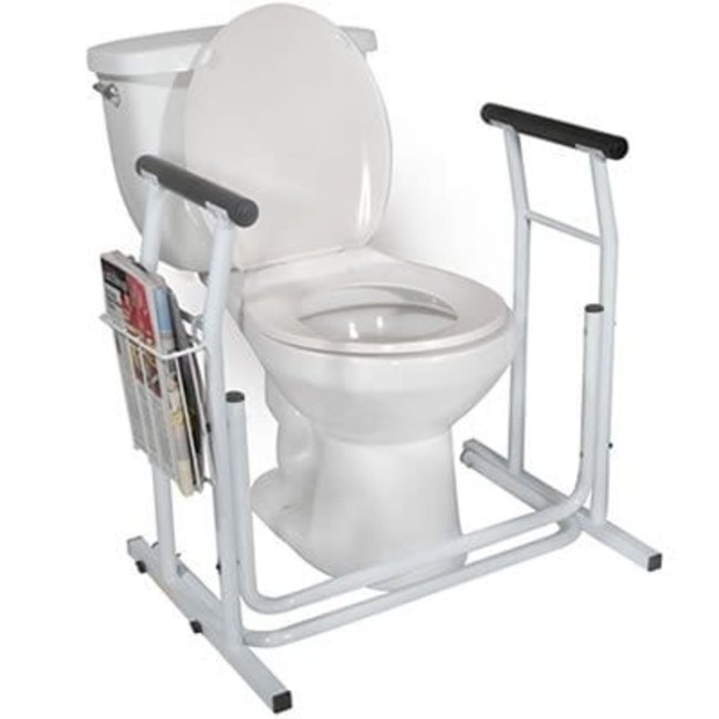 Essential Medical Essential Free Standing Toilet Safety Rail - Height Adjustable