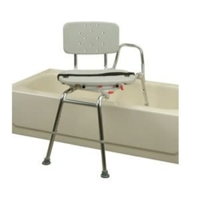 Compass Healthcare Bath Transfer Bench with rotating & sliding seat