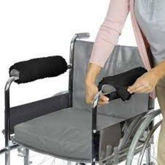Vive Vive Wheelchair Armrest Pads - black fleece, 1-pair