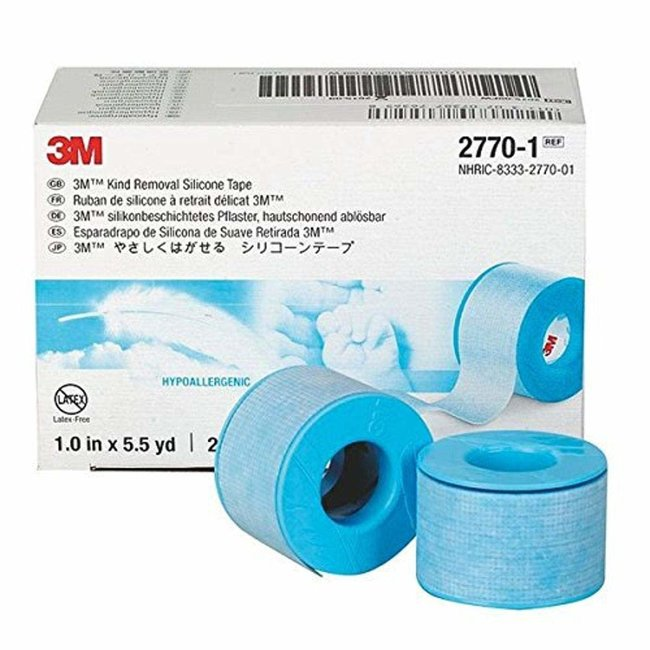 3M 3M Skin Friendly Blue Silicone Medical Tape