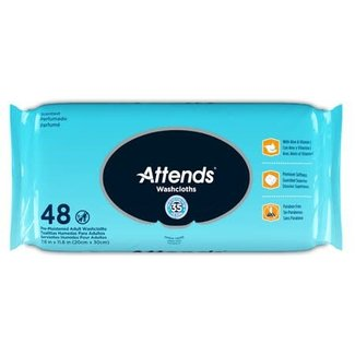 Attends Attends Personal Wipes,  Soft Pack with Aloe & Vitamin E