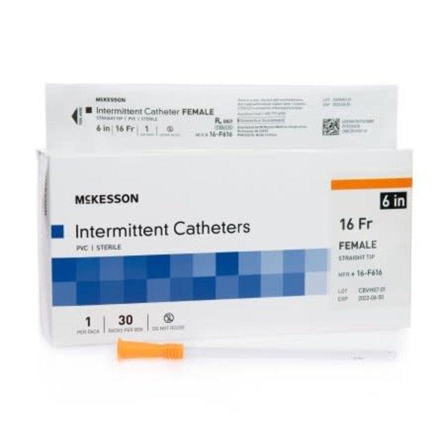 McKesson McKesson Female Urethral Catheter Straight Tip, 6 inch