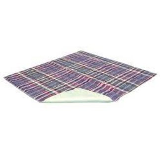 Essential Medical Quik-Sorb Plaid - 100% Quilted Cotton Washable Underpads