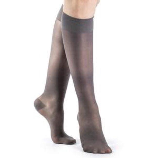 Sigvaris Sheer Fashion (Women Only) 15-20 Knee High B Open Toe Charcoal