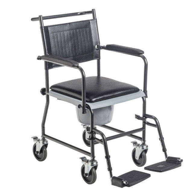 Drive Medical Drive Drop Arm Commode Transport Chair