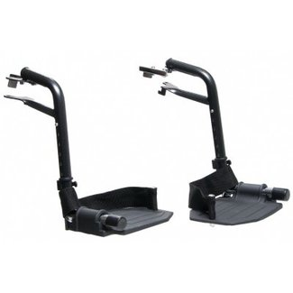 Everest & Jennings Metal Foot Plate Standard Leg Rests - 1 Pair