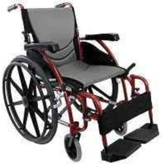 "Karman Karman S-Ergo Ergonomic lightweight wheelchair 20"" Rose Red Mag Wheel"