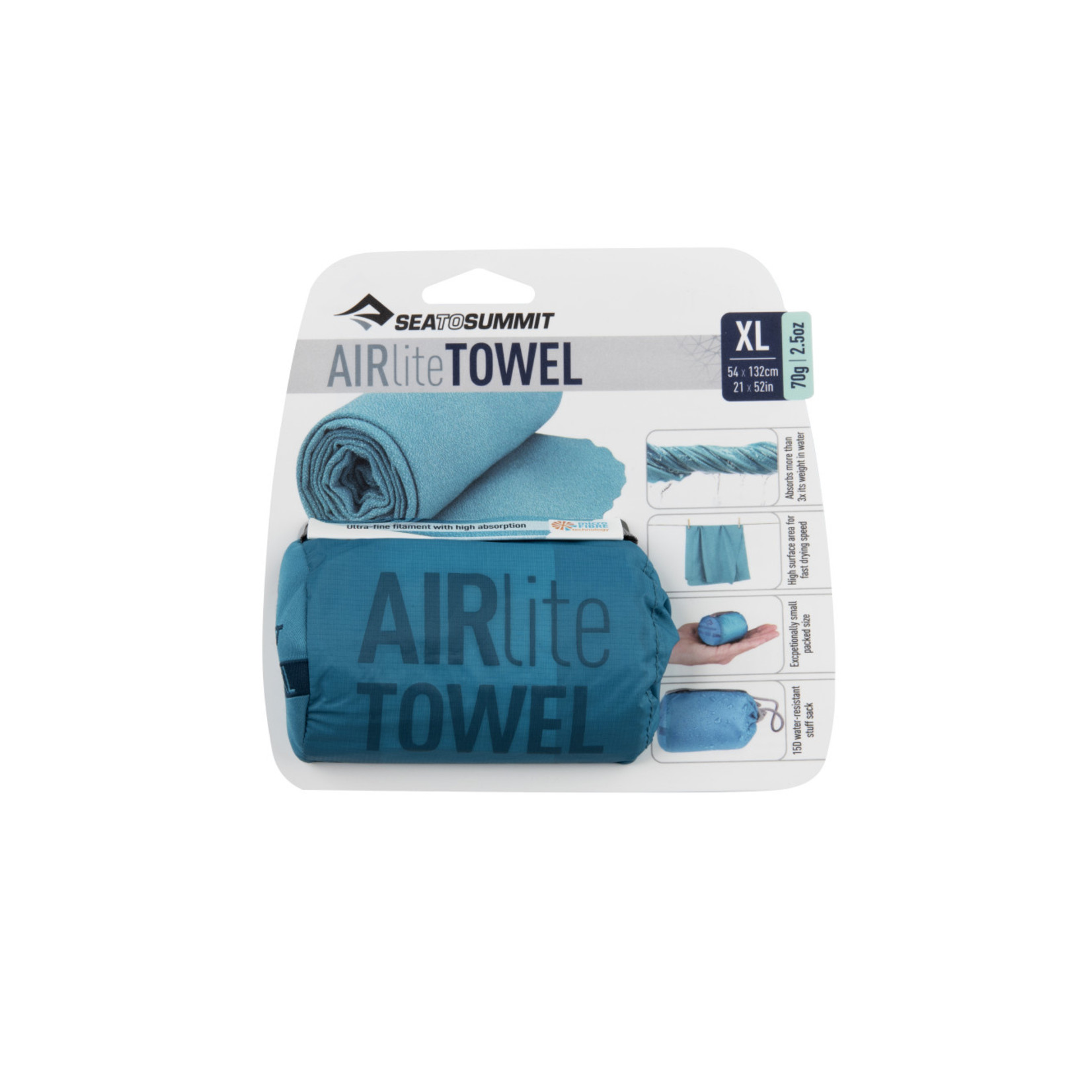 Sea to Summit Sea to Summit, Airlite Towel Large Pacific Blue