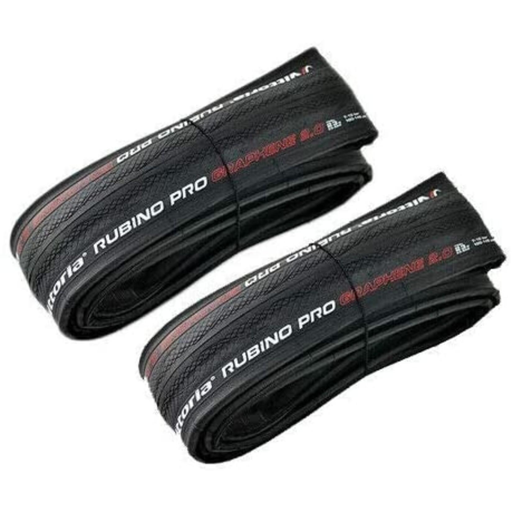 Vittoria Vittoria, Rubino Pro IV Fold Full Black G2 Tyre Twin Pack