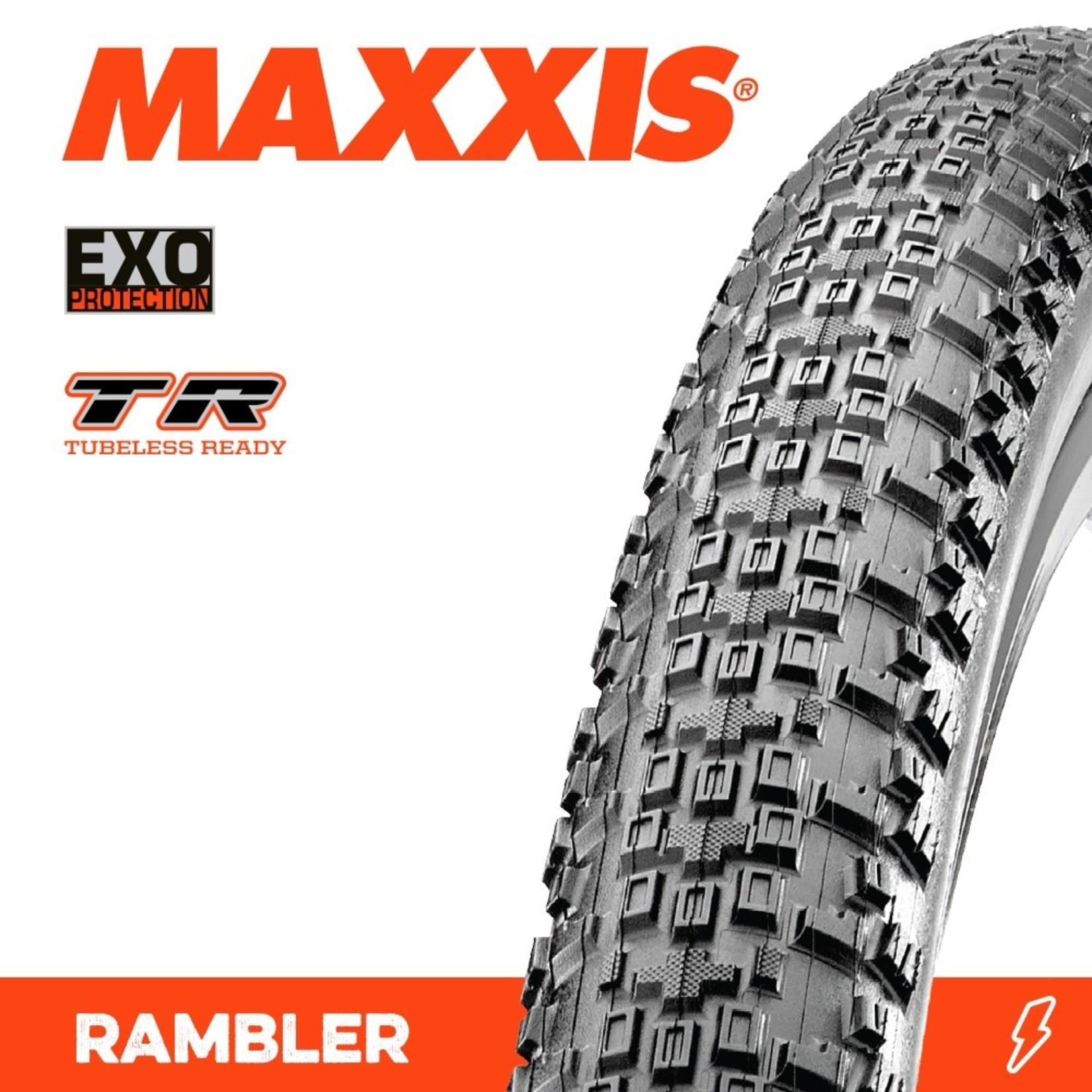 Maxxis Maxxis, Tyre Rambler 700x45c Exo TR 120TPI Black