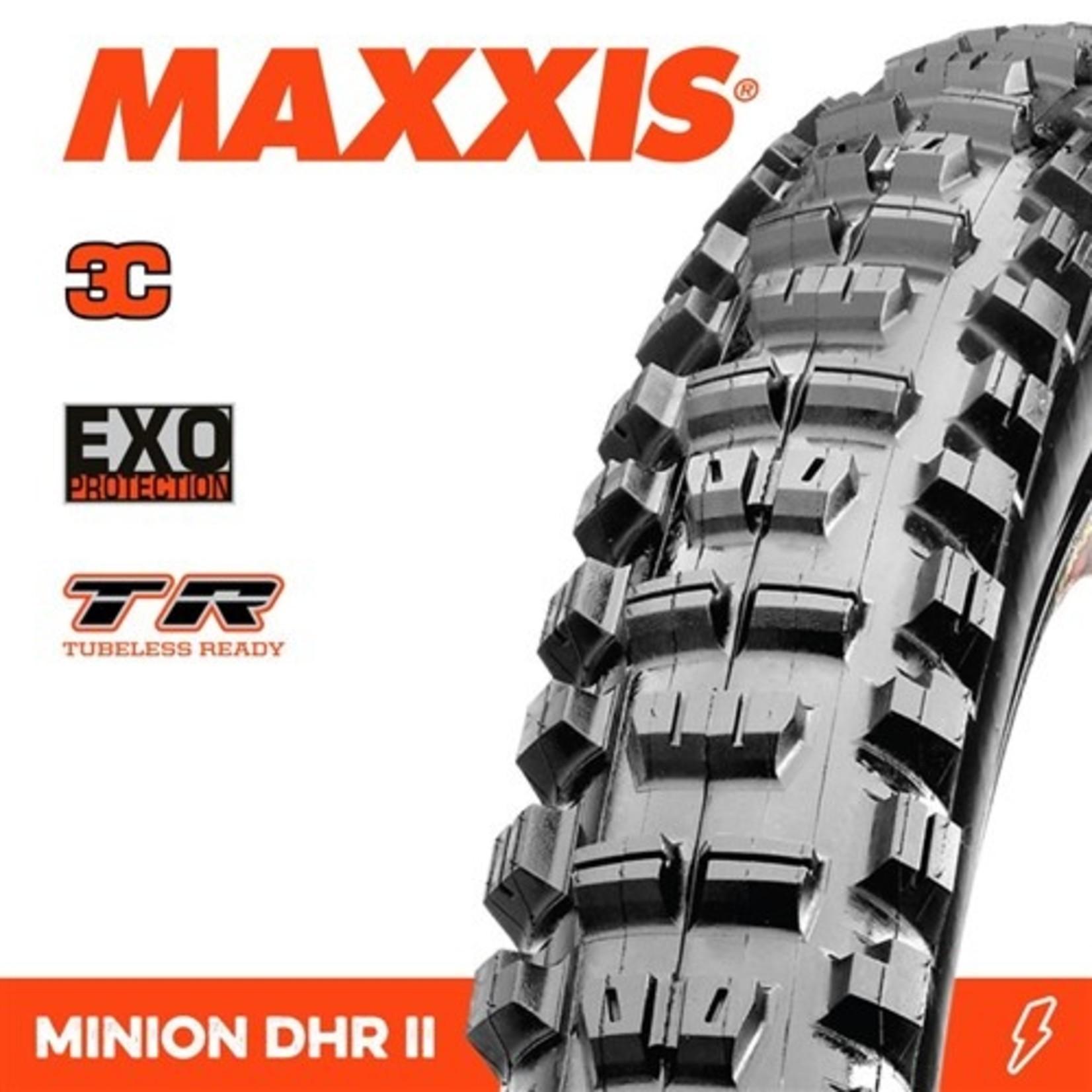 Maxxis Maxxis, Tyre Minion DHR II 29x2.40WT 3C Terra EXO TR 60TPI Black
