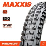 Maxxis Maxxis, Tyre Minion DHF 27.5x2.30 3C Terra EXO TR 60TPI Black