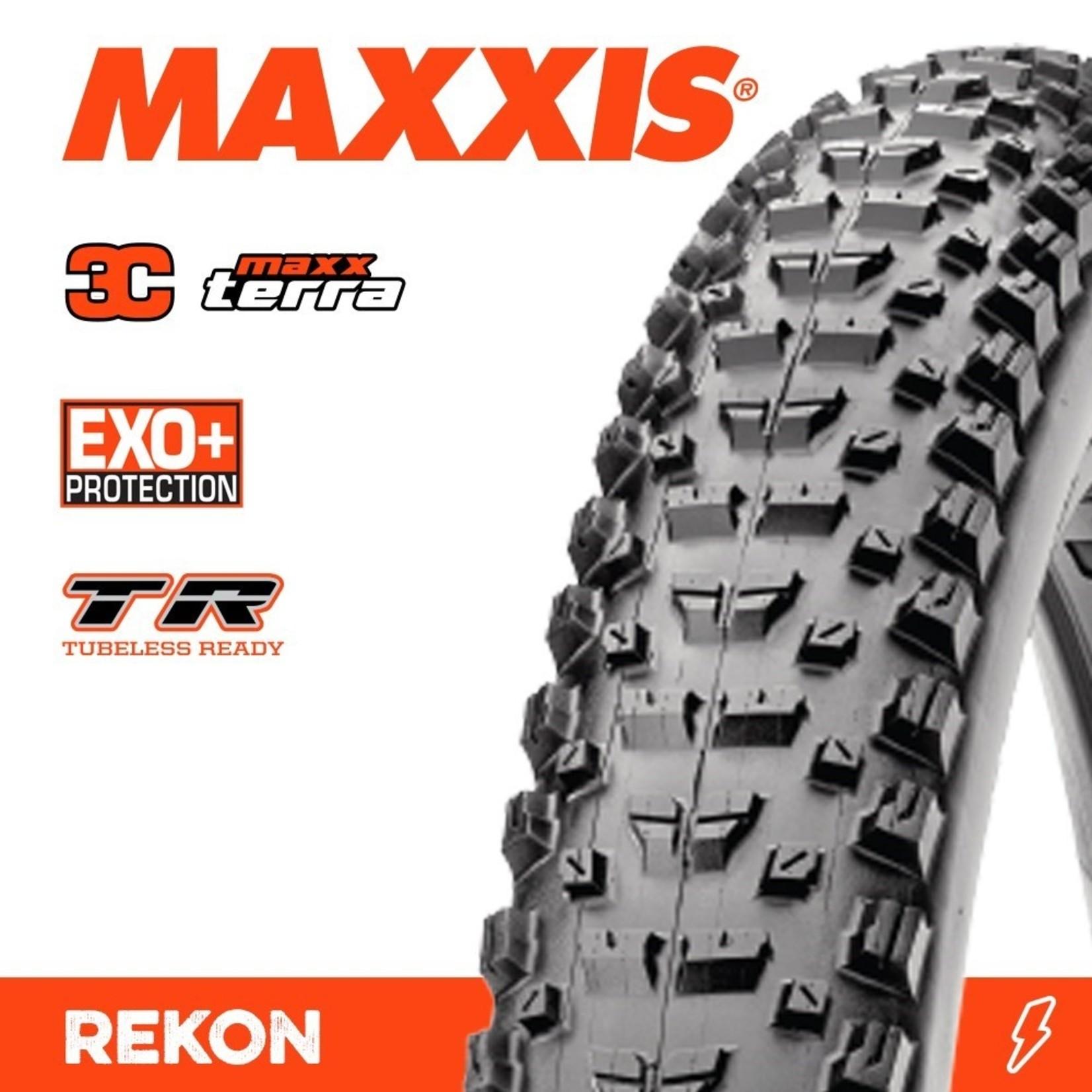 Maxxis Maxxis, Tyre Rekon + 27.5x2.80 Plus 3C Terra EXO+ TR 120TPI Black