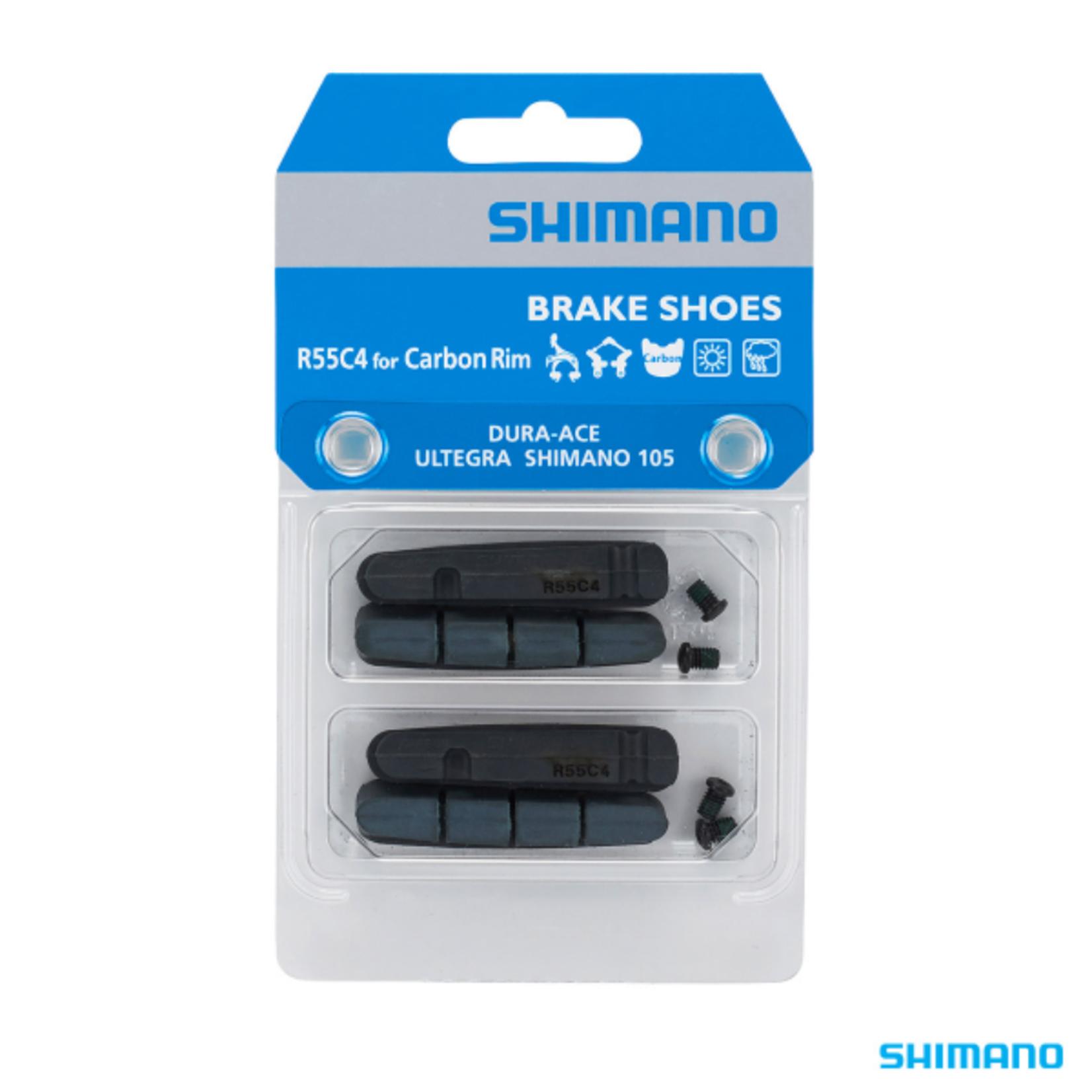 Shimano Shimano, BR-9000 Brake Pad Inserts R55C4 For Carbon Rim (2 Pair)