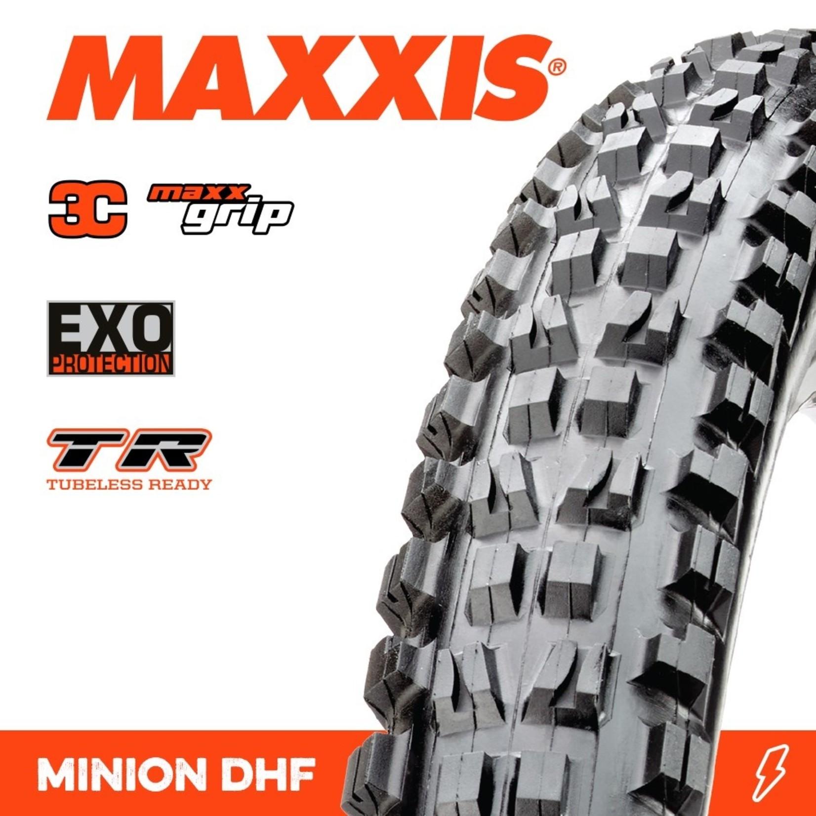 Maxxis Maxxis, Tyre Minion DHF 27.5x2.50WT 3C Maxx Grip EXO TR 60TPI Black