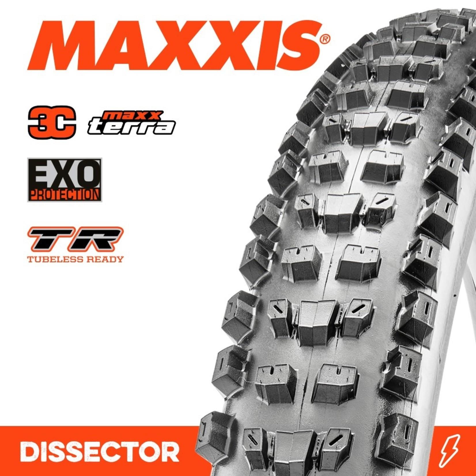 Maxxis Maxxis, Tyre Dissector 27.5x2.40WT 3C Maxx Terra EXO TR 60TPI Black