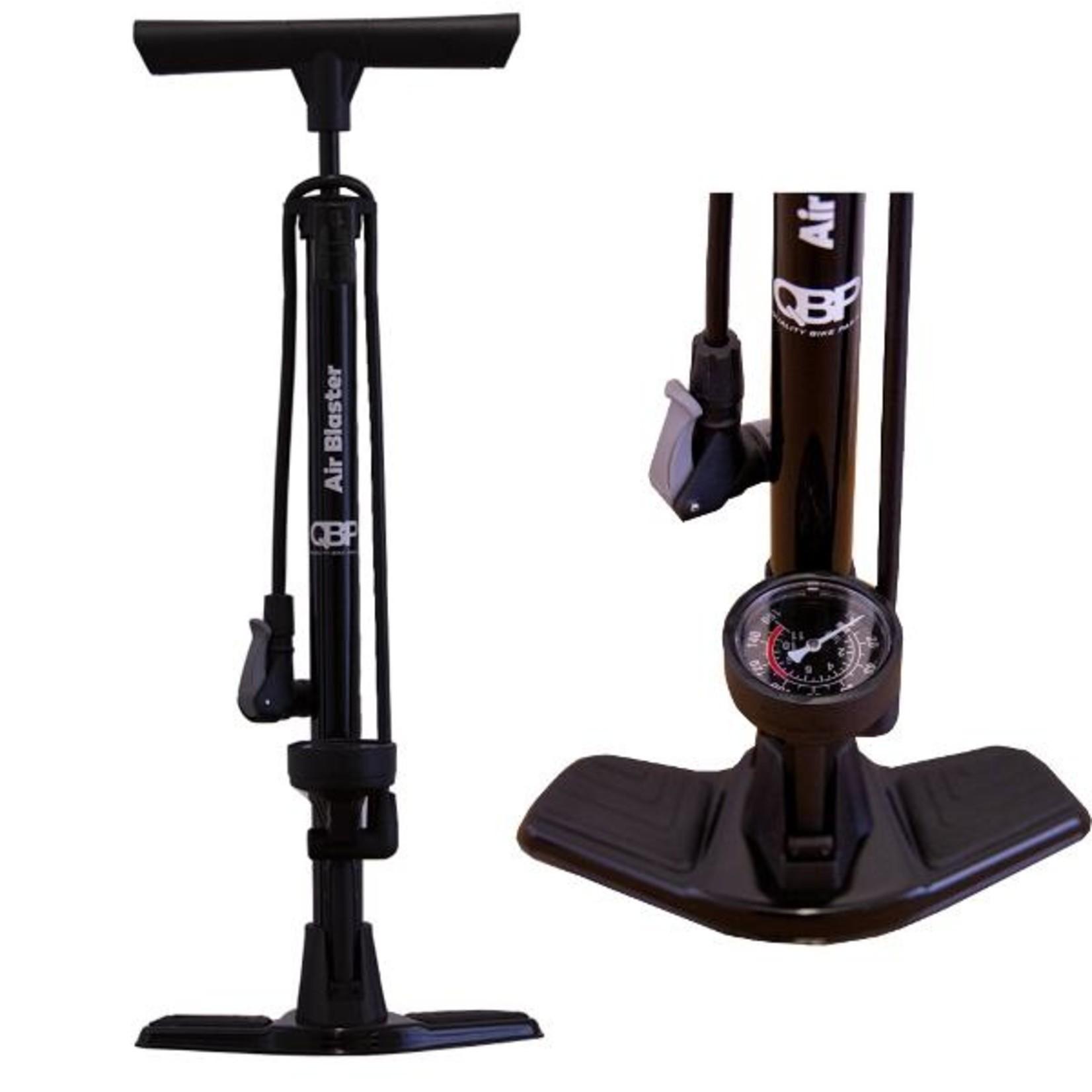 QBP 'Quality Bike Parts' QBP, Air Blaster Floor Pump Black