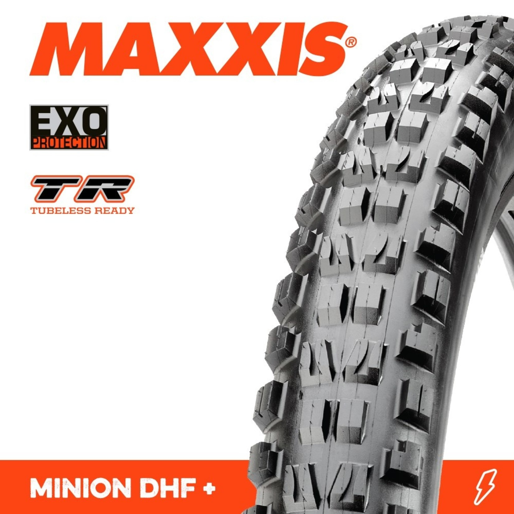 Maxxis Maxxis, Tyre Minion DHF 27.5x2.80 Plus EXO TR 60TPI Black