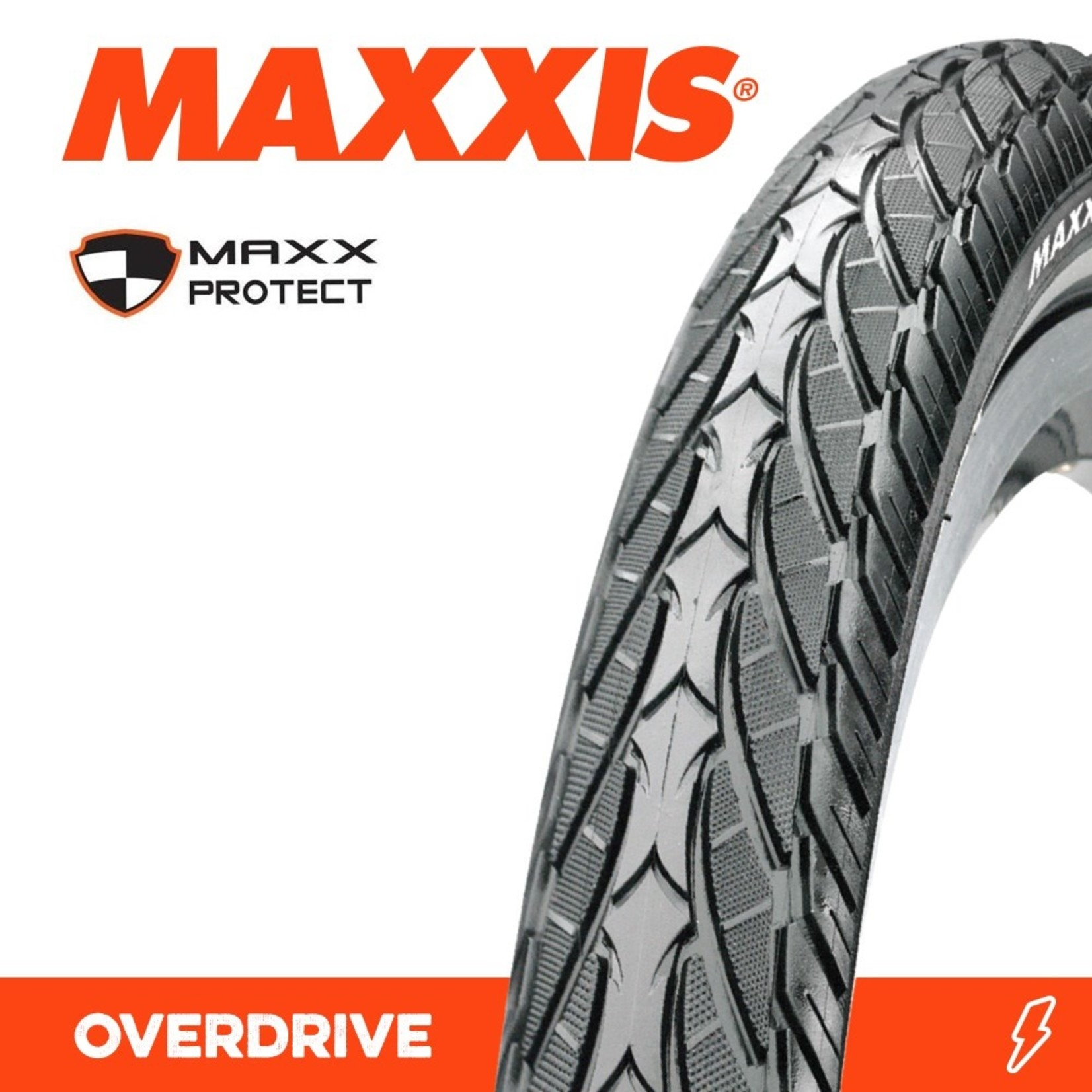 Maxxis Maxxis, Tyre Overdrive 700x40 Maxxprotect Wire 27TPI Black