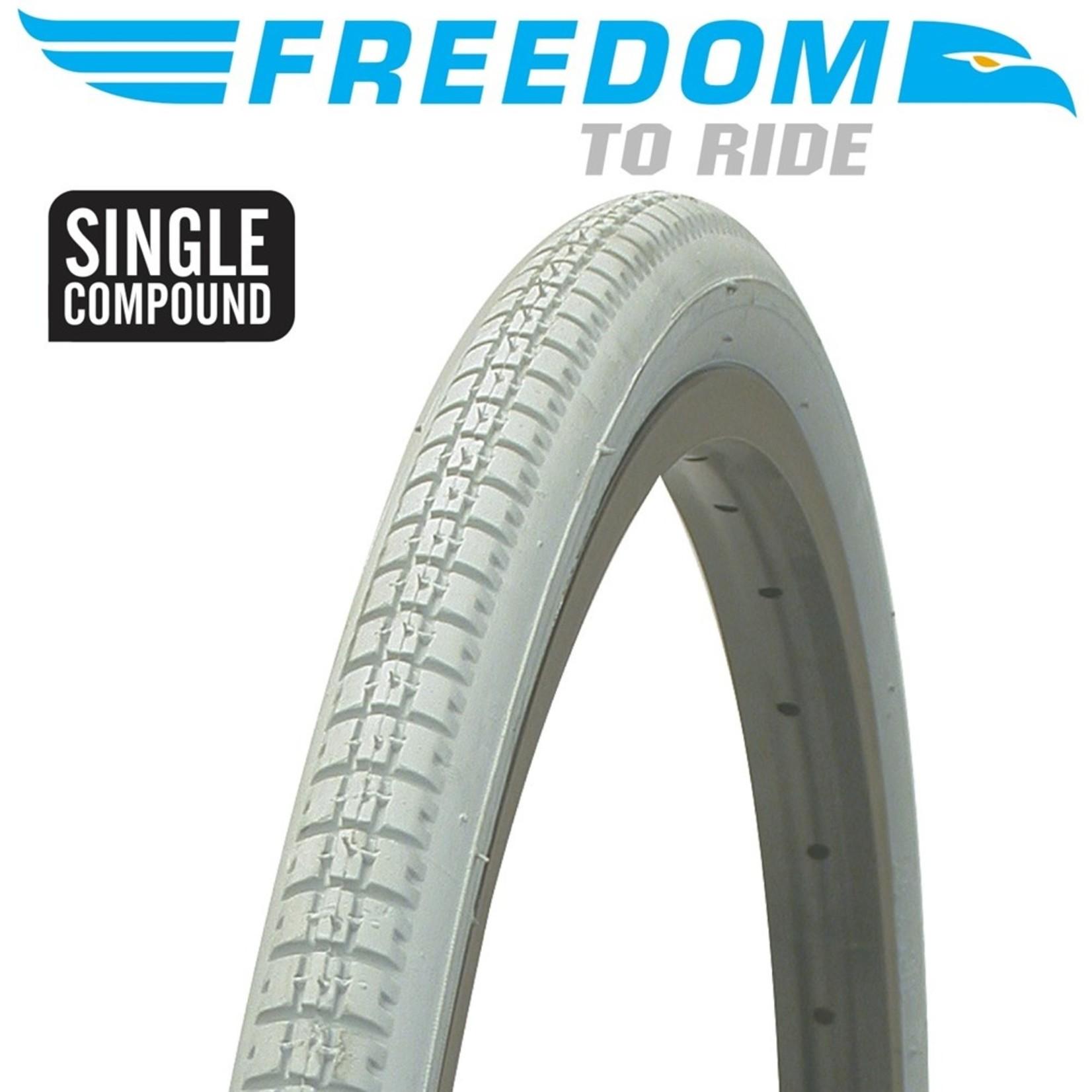 Freedom Freedom, Tyre 24 x 1-3/8 Wheelchair Block Grey