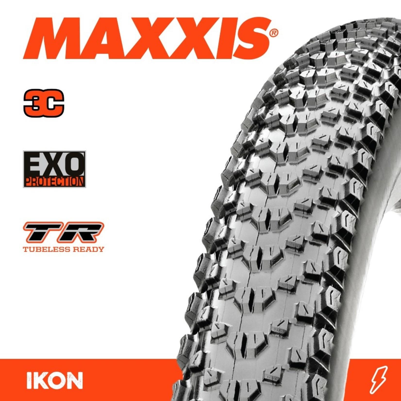 Maxxis Maxxis, Tyre Ikon 27.5x2.20 3C Speed EXO TR 120TPI Black