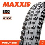 Maxxis Maxxis, Tyre Minion DHF 29x2.30 EXO TR 60TPI Black
