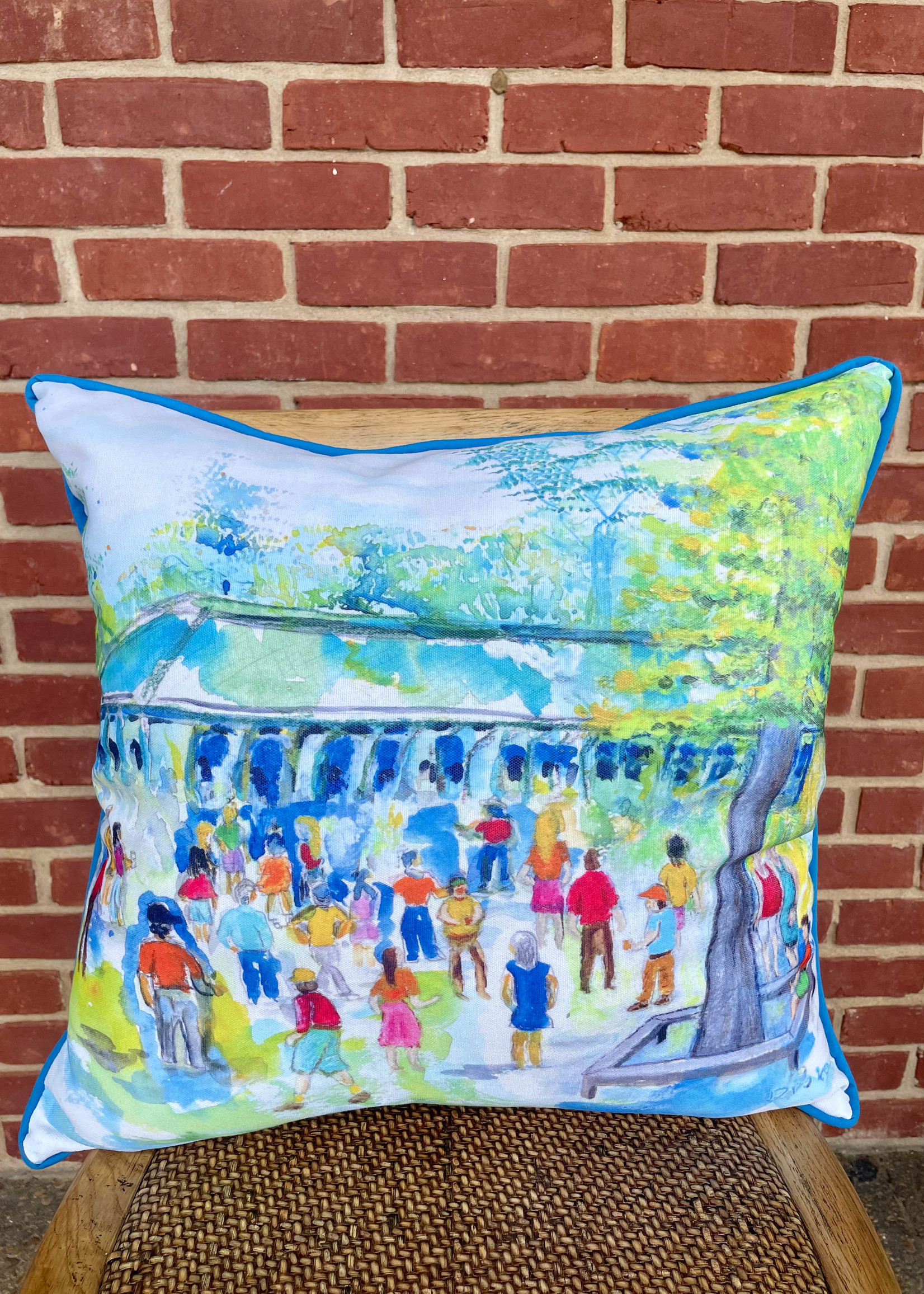 Kademi Square Large Outdoor Pillow, 18x18