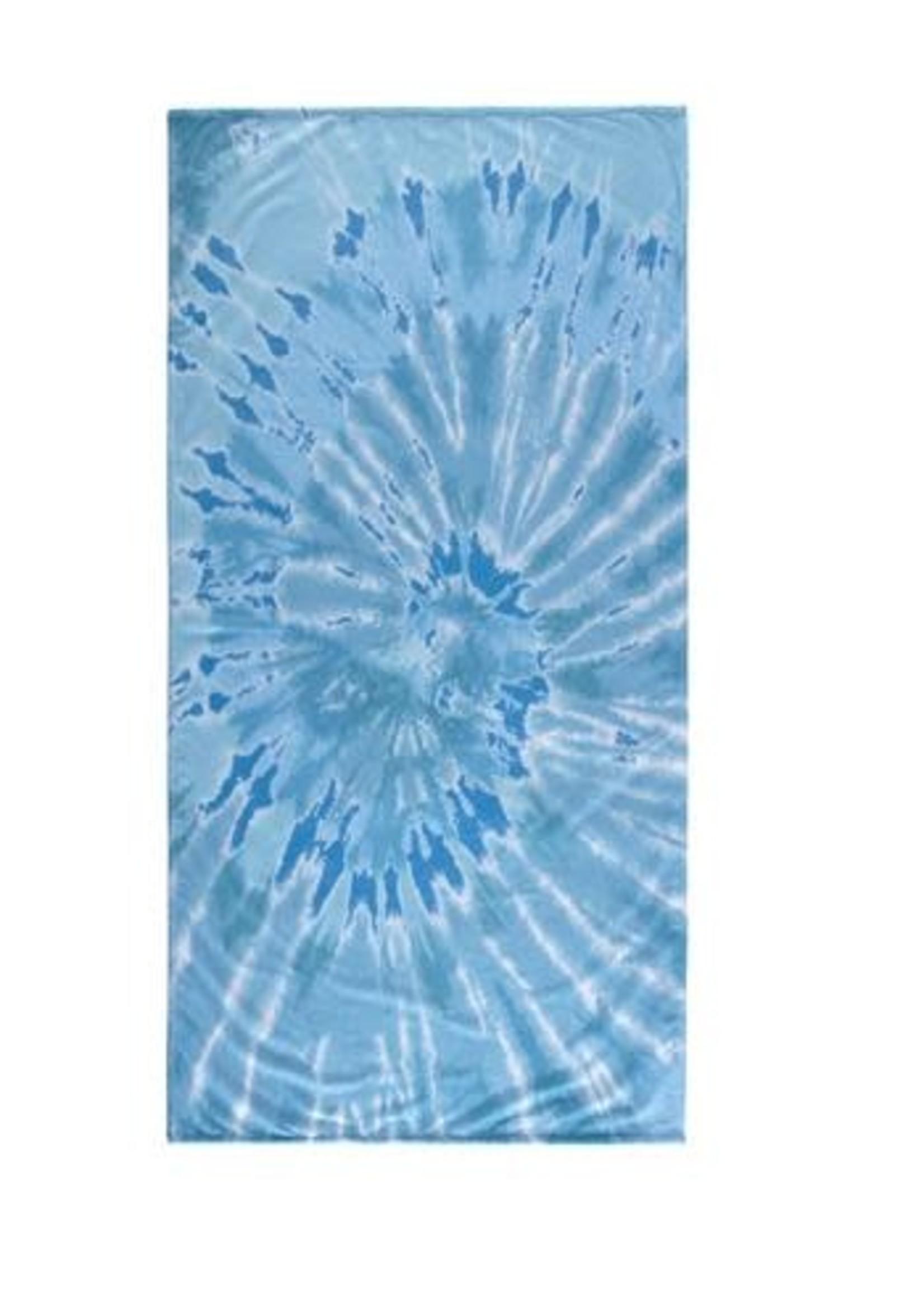 Shiraleah Tie Dye Towel, Aqua
