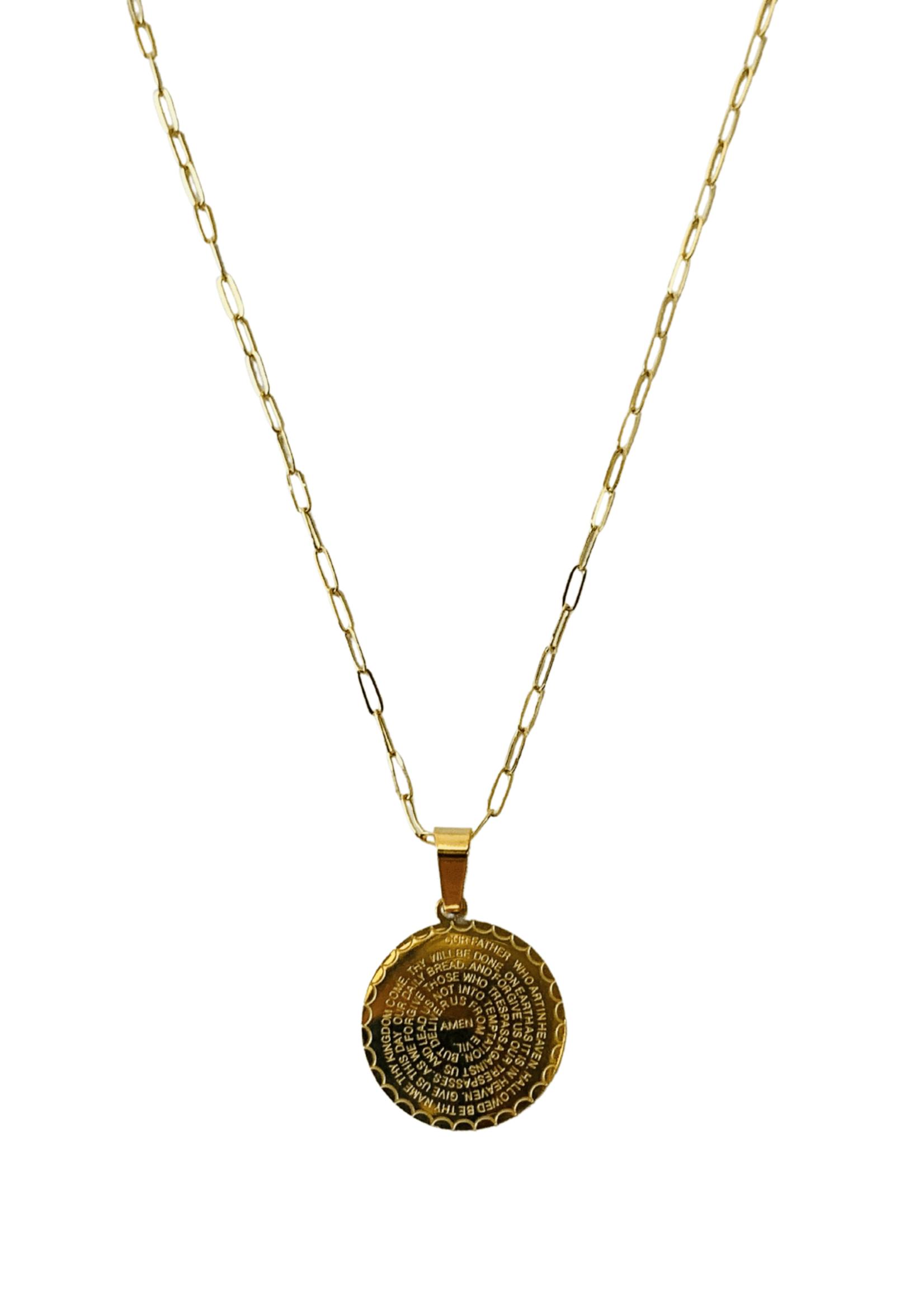 Allison Avery Lord's Prayer Necklace