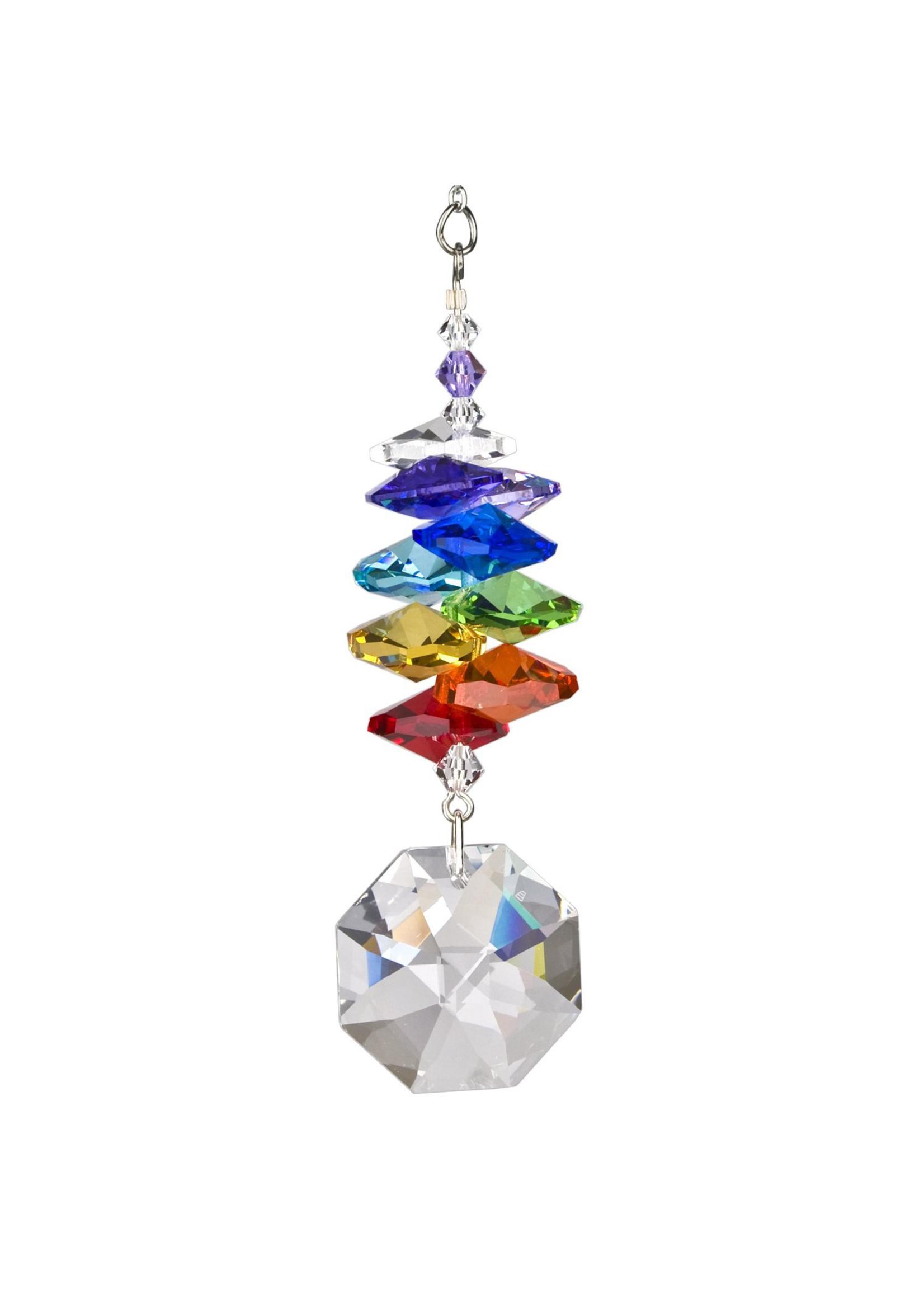 Woodstock Chimes Crystal Rainbow Cascade, Octagon