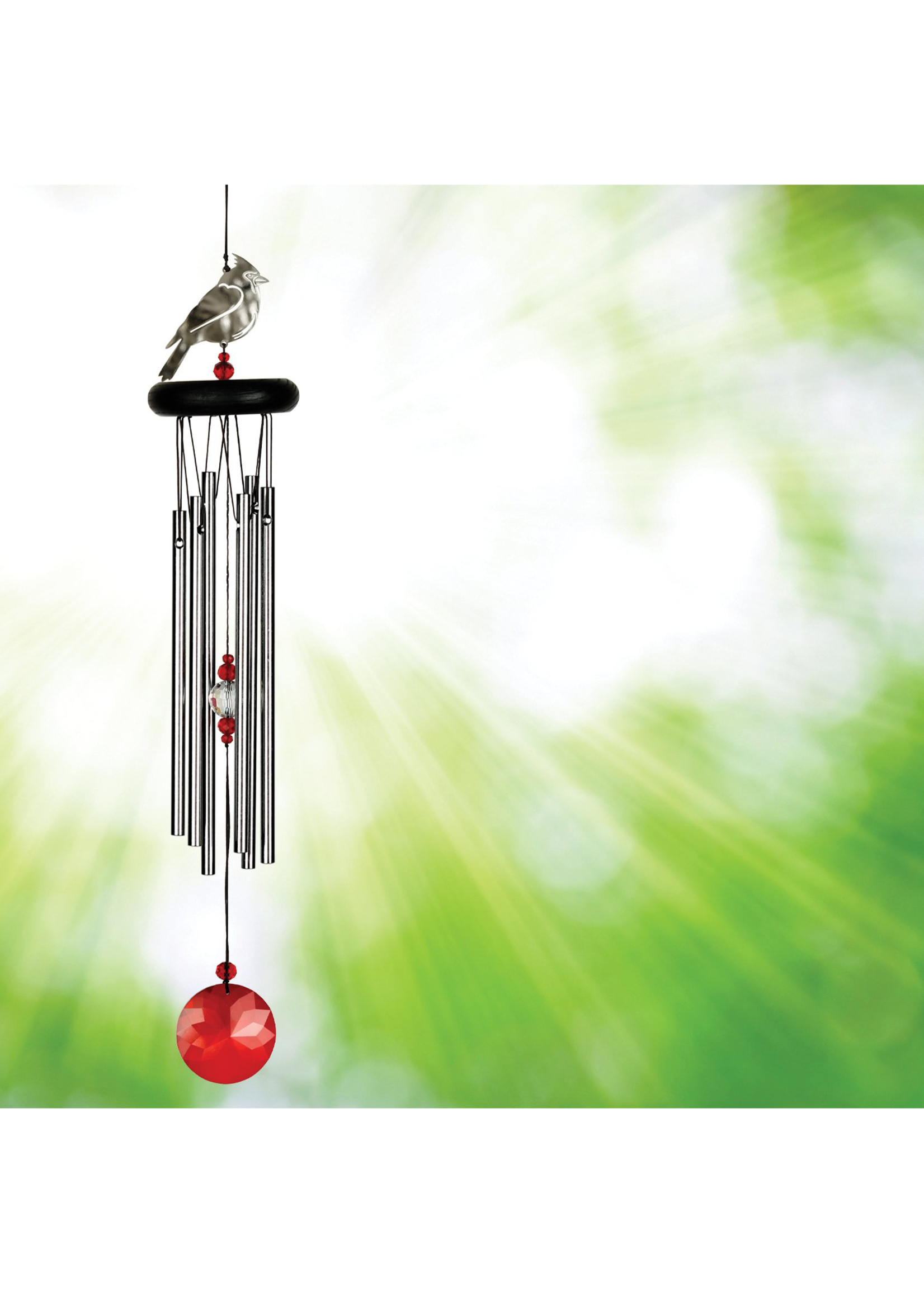 Woodstock Chimes Crystal Chime, Cardinal