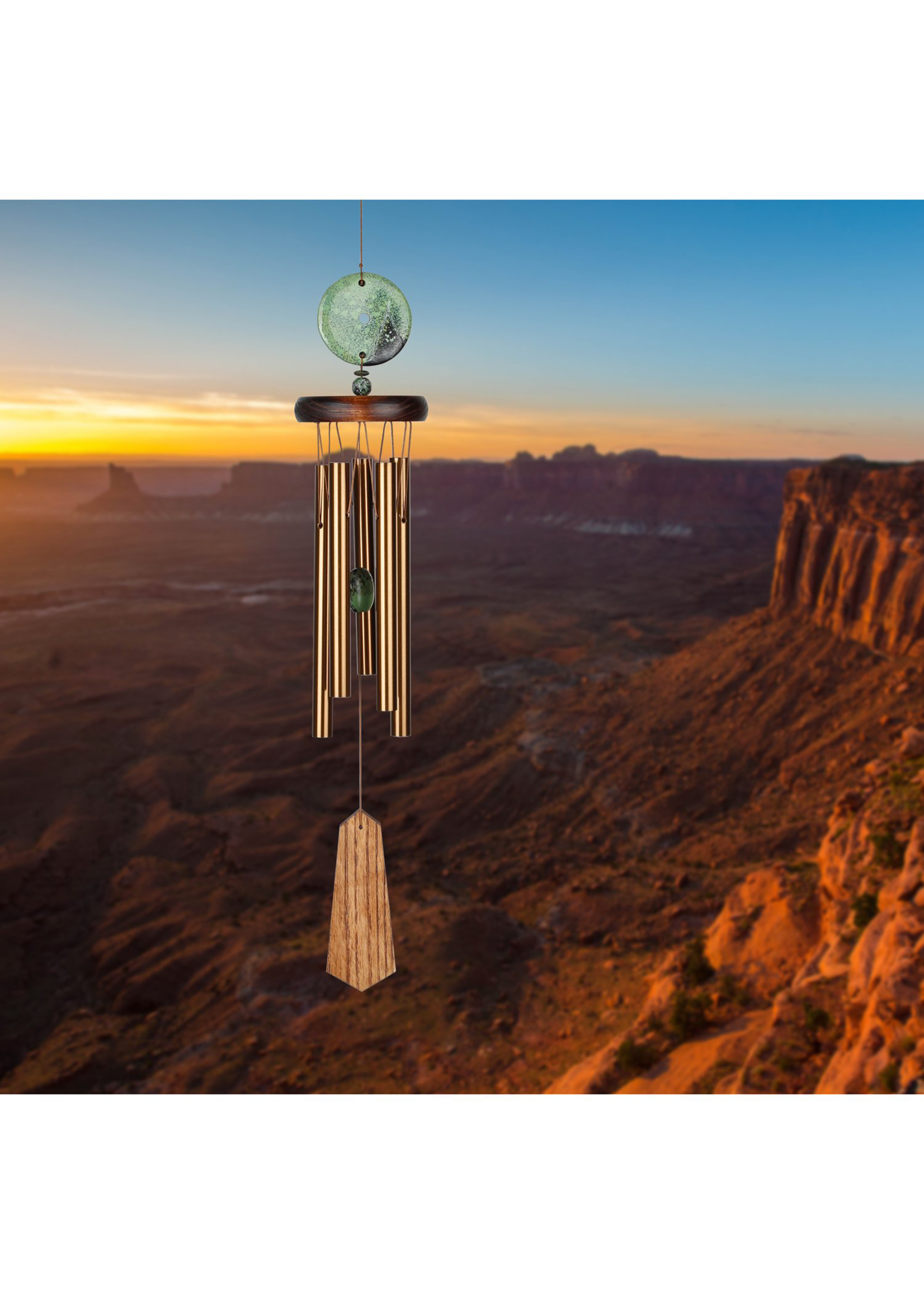 Woodstock Chimes Turquoise Chime, Terra