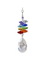 Woodstock Chimes Crystal Rainbow Cascade, Almond