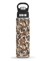 Tervis Tumblers Stainless Steel Wide Mouth Bottle w/Deluxe Spout Lid, 24oz