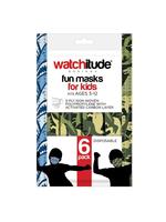 Watchitude 6 Pack Kids Masks, Shark/Dino