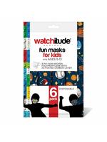 Watchitude 6 Pack Kids Masks, Sports/Lego