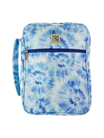 Mary Square Bible Cover, Blue Rush