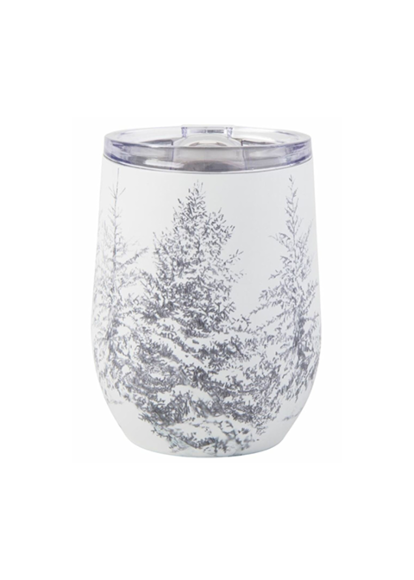 Tag True Living Winter Sketches Tree Stemless Wine