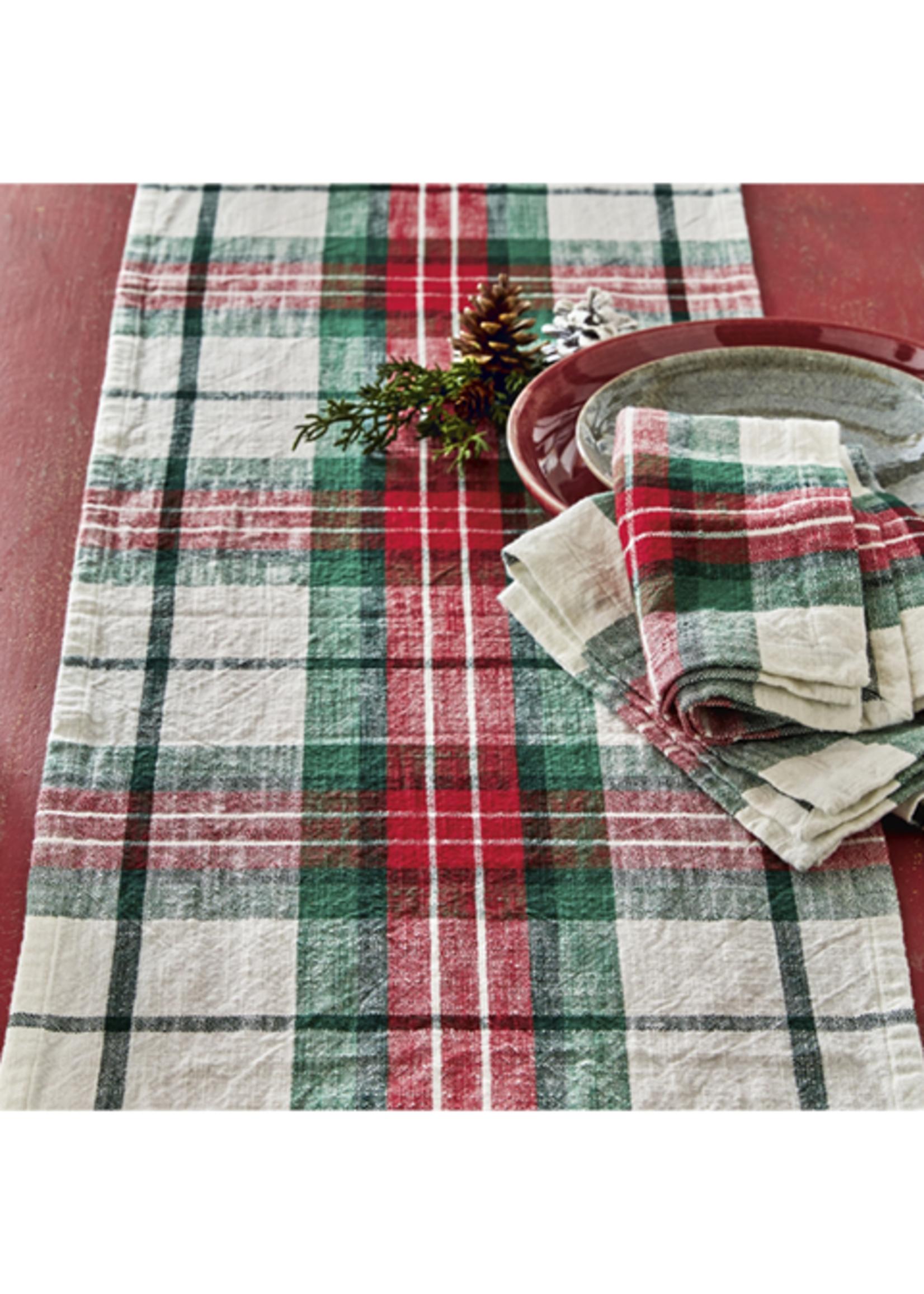 Tag True Living Festive Plaid Napkin Set 4