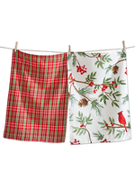 Tag True Living Cardinal Dish Towel Set 2
