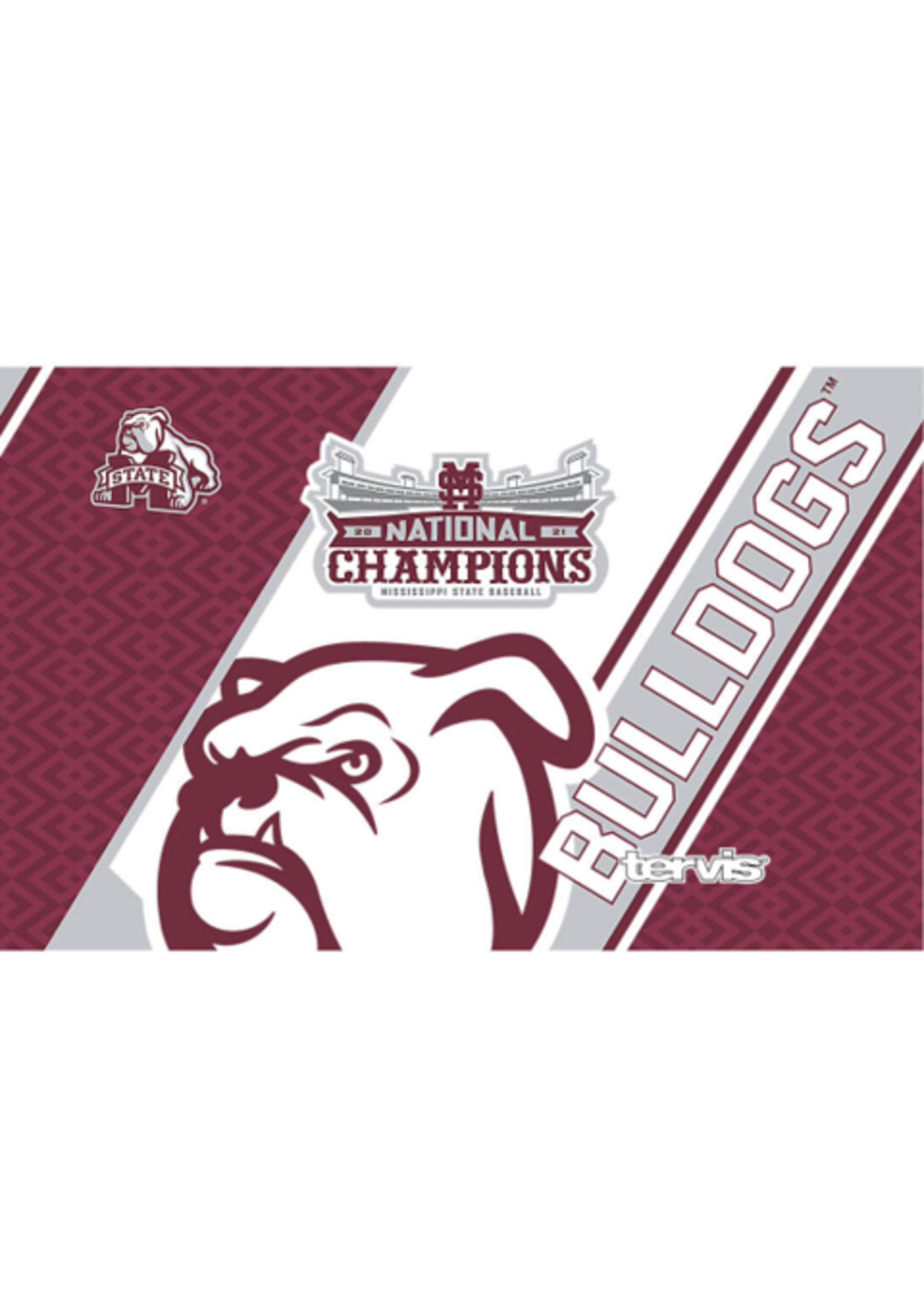 Tervis Tumblers Mississippi State Bulldogs 2021 College World Series Champions Stainless Steel With Slider Lid